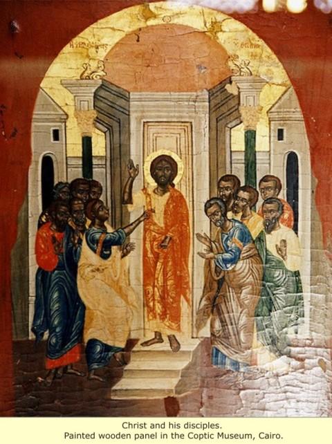 005 - YAHUSHUA E SEUS DISCÍPULOS NEGROS NO MUSEU COPTA - EGITO