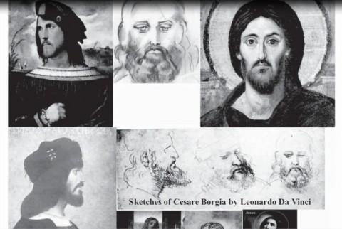 011 - ESBOÇOS DE CESARE BORGIA POR LEONARDO DA VINCI 001